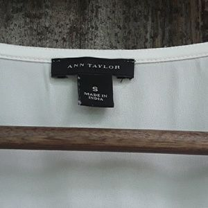Ann Taylor Tops - ANN TAYLOR WHITE BEADED CAMI